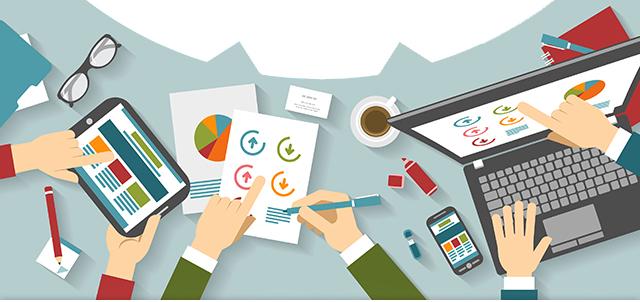 Imagem ilustrativa mesa de negócios